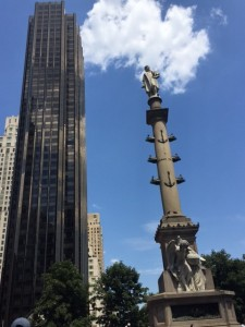 Christopher Columbus – and a blue, blue sky!