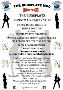 Bugsplatz MCC party flyer