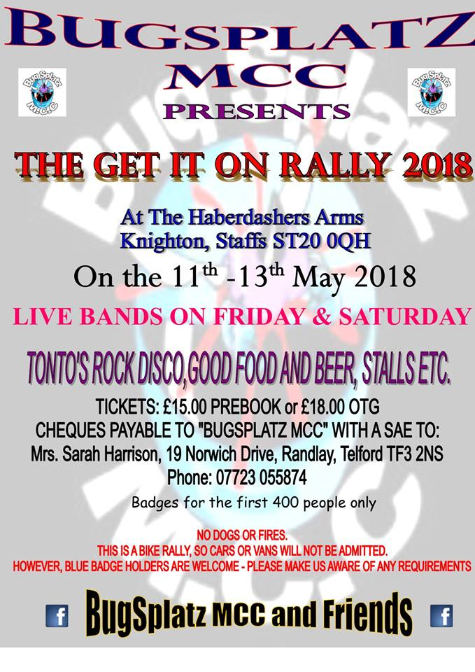 Get It On Rally 2018 flyer