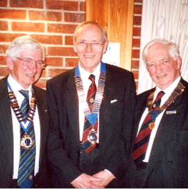 Chairman of Tandridge, John Palmer, Chairman of Caterham, Tony Waters, and Chairman of Coulsdon, Malcvolm Rusco-Pond.